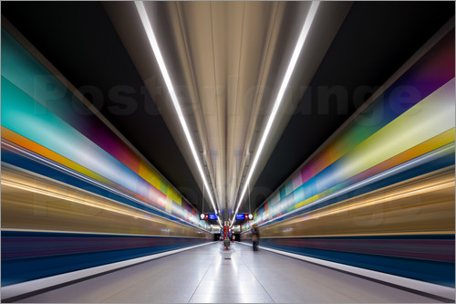 MUXPIX - Color explosion subway Munich