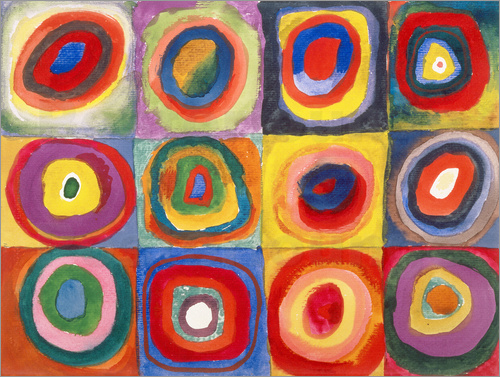 Wassily Kandinsky - Colour Study - Squares and concentric rings