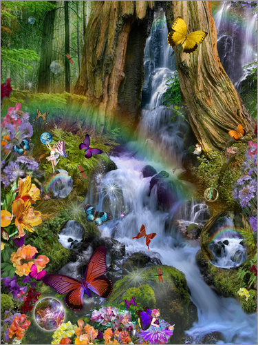 Poster Woodland Forest Fairyland