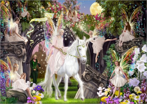 Poster Fairy Queen with Unicorn