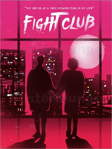 2ToastDesign Fight club movie scene art print Poster | Posterlounge