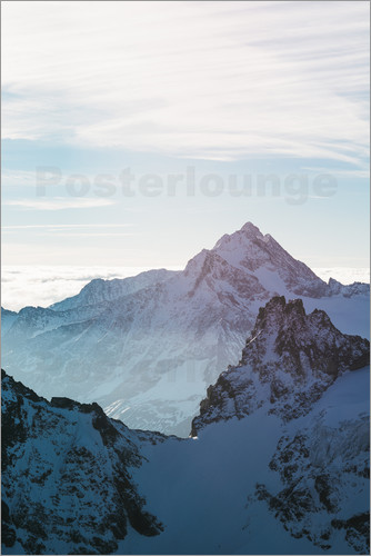 Peter Wey - Fleckistock mountain peak above cloudscape  View from Titils mountain peak, Lucerne, Switzerland