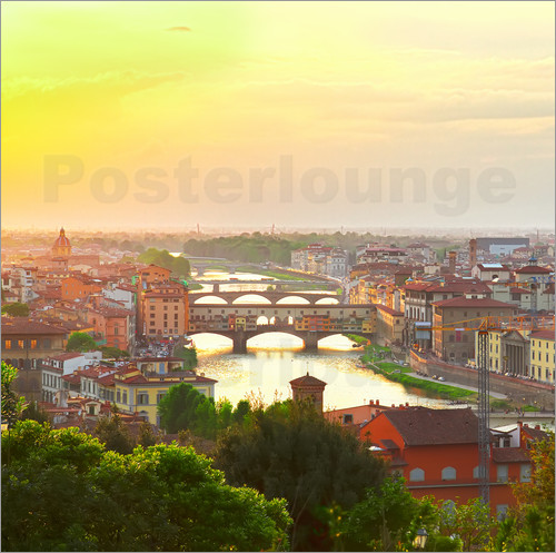 Poster Florence with Ponte Vecchio