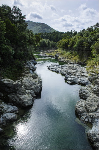 Michael Runkel - River contributing water to the Marlborough Sounds, South Island, New Zealand, Pacific