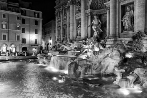 Filtergrafia - Trevi fountain in Rome
