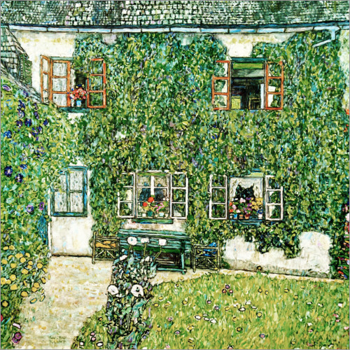 Gustav Klimt - Forester's house in Weissenbach on Attersee lake