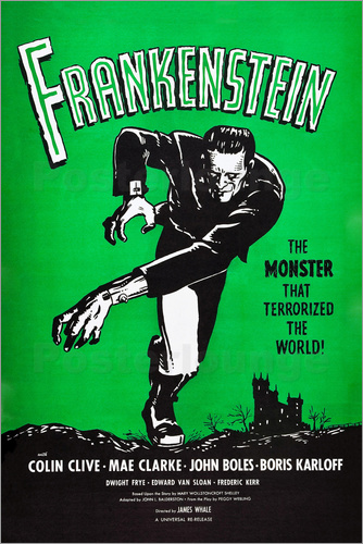 posters affiches de frankenstein posterlounge. Black Bedroom Furniture Sets. Home Design Ideas