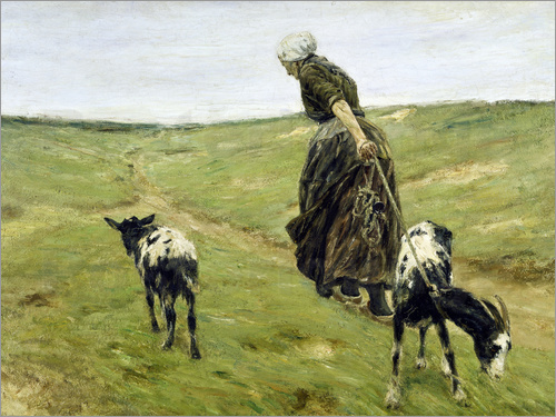 Max Liebermann - Woman with goats in the dunes