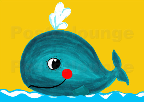 Poster Frida, the friendly whale