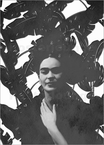 Poster Frida black and white