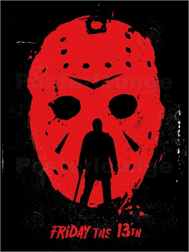 Golden Planet Prints - Friday the 13th film Jason movie inspired art print
