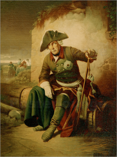 Frederick the Great after the battle of Collin