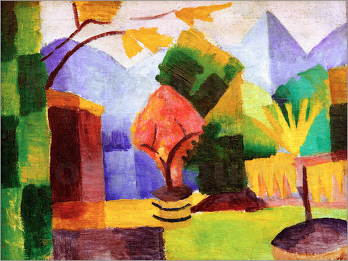 August Macke - Garden beside the lake Thun