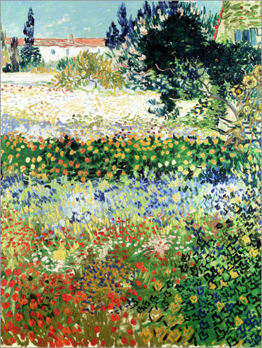 Poster Garden in Bloom, Arles