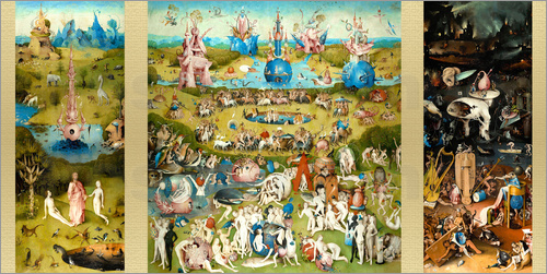 Hieronymus Bosch The Garden of Earthly Delights Poster Posterlounge