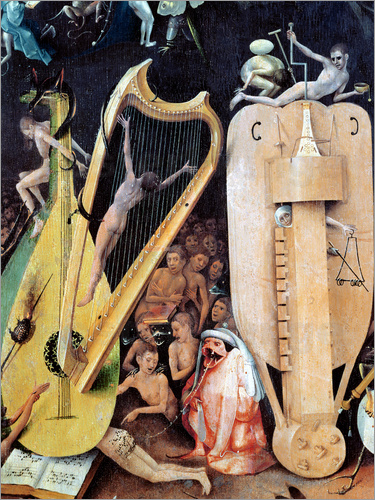 Hieronymus Bosch - Garden of Earthly Delights, Hell (detail)