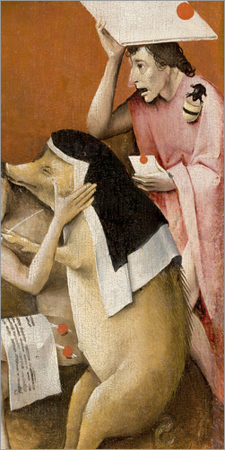 Poster Garden of Earthly Delights, Hell (detail)