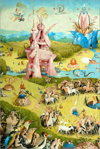 Hieronymus Bosch Garden of Earthly Delights mankind before the