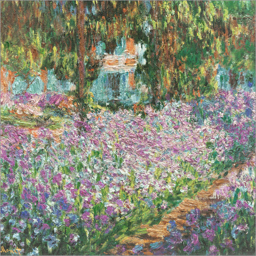 claude monet the artist 39 s garden at giverny poster posterlounge. Black Bedroom Furniture Sets. Home Design Ideas