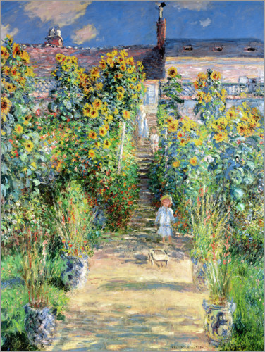 Poster Monet's Garden at Vetheuil