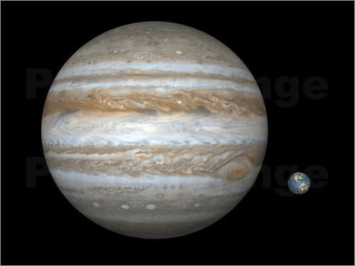 Walter Myers - gas giant Jupiter and Earth