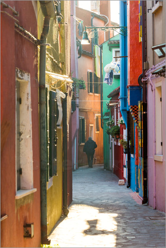 Poster Alley in Burano, Venice
