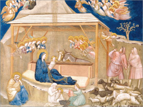 Giotto di Bondone - The Birth of Christ
