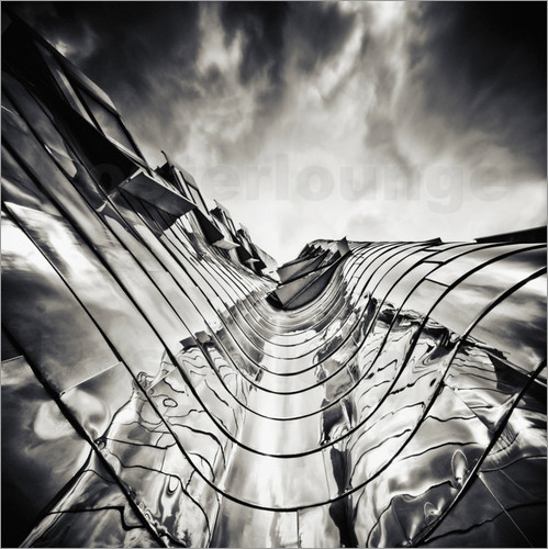 Poster Gehry Duesseldorf | 03 (monochrome)