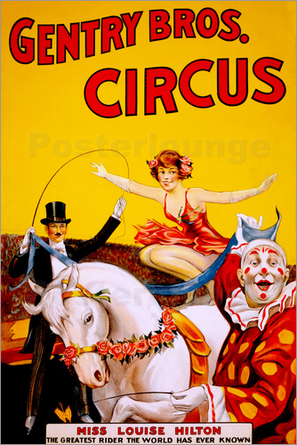 Poster Gentry Bros  Circus