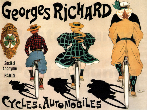 Poster Georges Richard bicycles