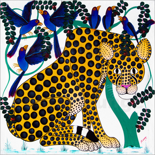 Omary - Cheetah seeks protection under the bird tree