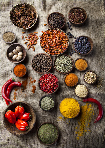 Poster spice bowls