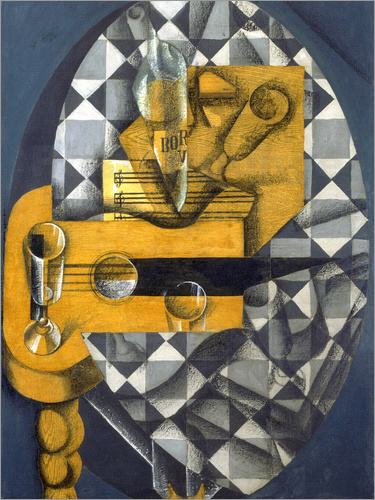 Juan Gris - Guitar, Bottle, and Glass