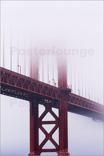 Poster Golden Gate Bridge in fog, San Francisco