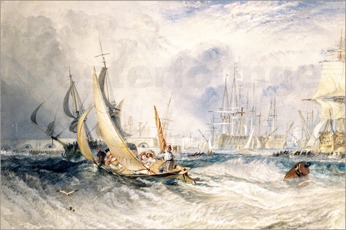 Joseph Mallord William Turner - Gosport: The Entrance to Portsmouth Harbour