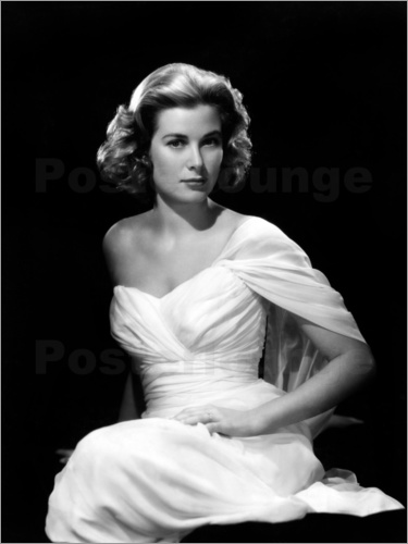 Poster Grace Kelly in a white dress