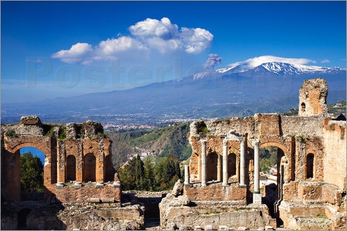 Circumnavigation - Greek theater of Taormina, Sicily, Italy