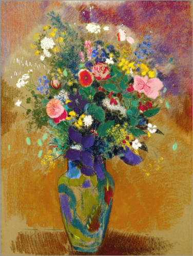 odilon redon grand bouquet de fleurs des champs poster. Black Bedroom Furniture Sets. Home Design Ideas