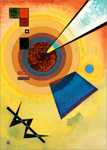 Wassily Kandinsky - Green and red