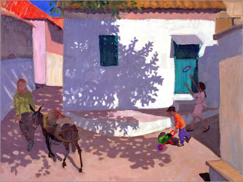 Poster Green Door and Shadows, Lesbos, 1996