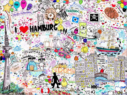 hamburg posters and prints posterlounge. Black Bedroom Furniture Sets. Home Design Ideas