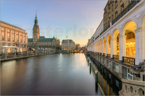 Michael Valjak - Hamburg Alster Arcades and City Hall