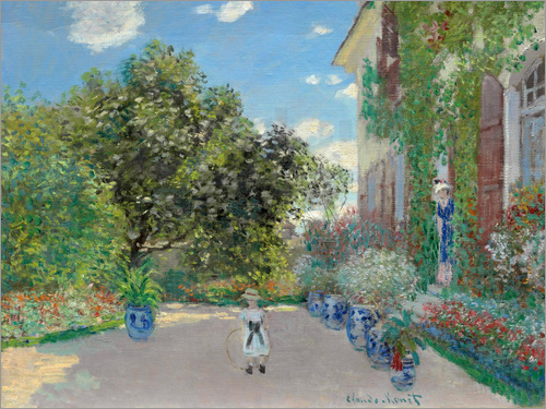 Claude Monet - The Artist's House at Argenteuil