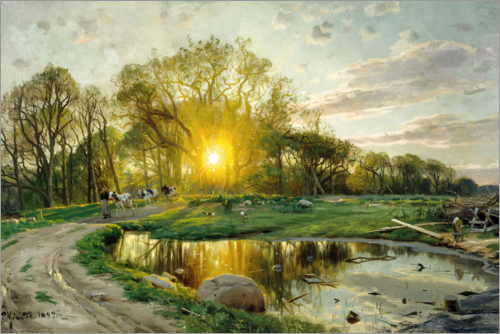 Peder Mork Mönsted - Home Bring the cows at sunset