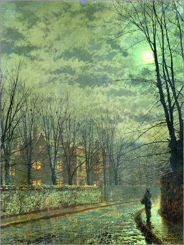 John Atkinson Grimshaw - Going Home by Moonlight