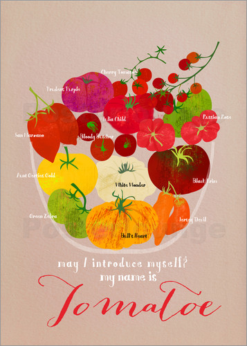 Poster Heirloom Tomatoes