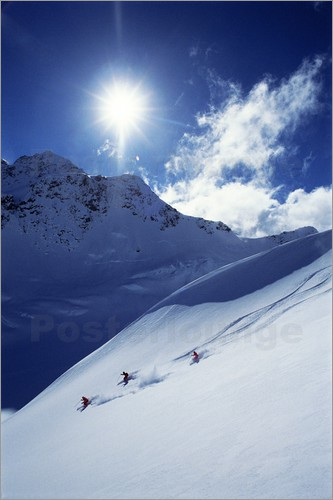 Poster Heliskiing in Mount Cook National Park
