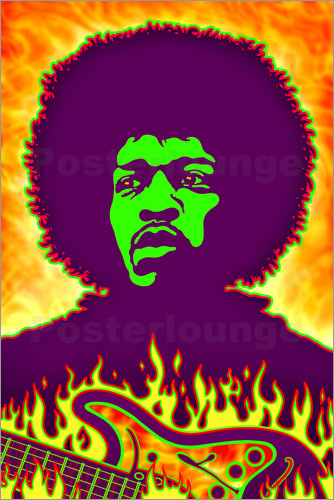 Poster Hendrix Fire