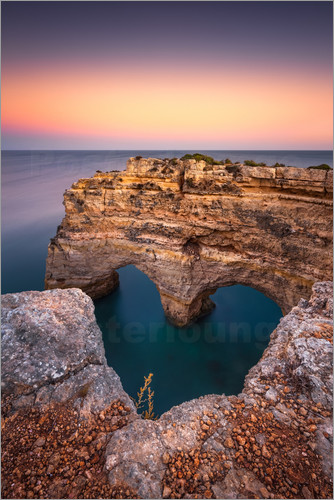 Poster Heart of the Algarve (Praia da Marinha / Portugal)