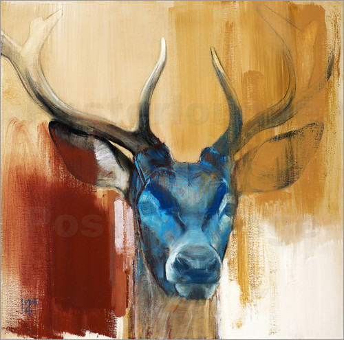 Poster Head of a deer